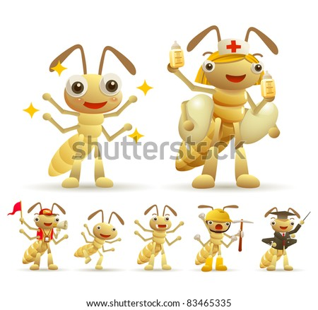 Cute Ant Logo Cute Ants Collection