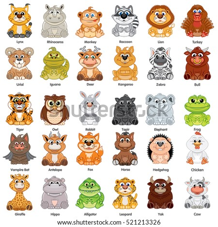 Cute Baby Animals. Vector Clip Art