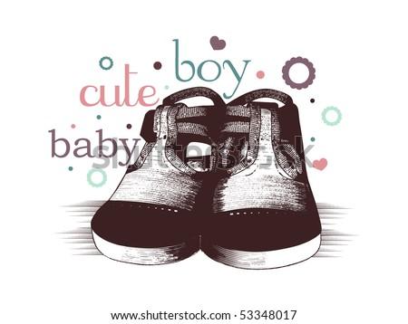 cute baby boy design - stock vector