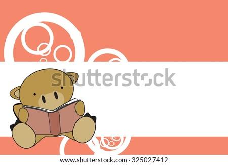 cute baby camel reading cartoon in vector format very easy to edit - stock vector