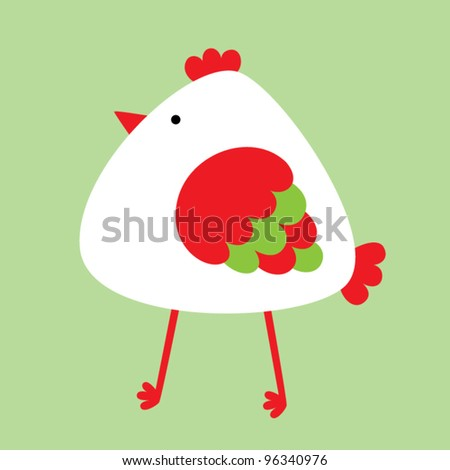 cute baby chicken - stock vector