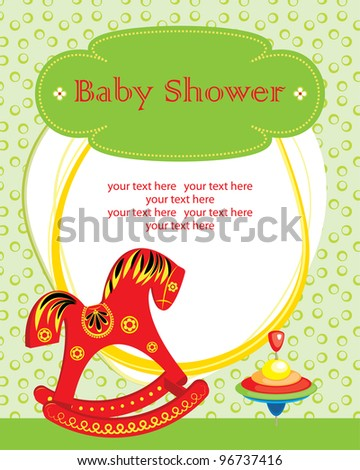 cute baby girl shower. vector illustration