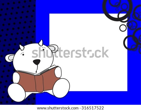 cute baby goat reading background in vector format - stock vector