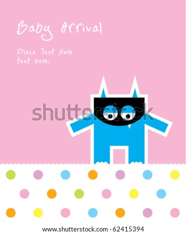 cute baby monster arrival