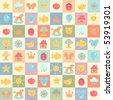 cute baby seamless pattern.vector illustration - stock vector