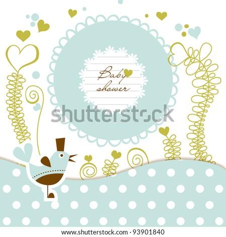Cute baby shower vector illustration - stock vector