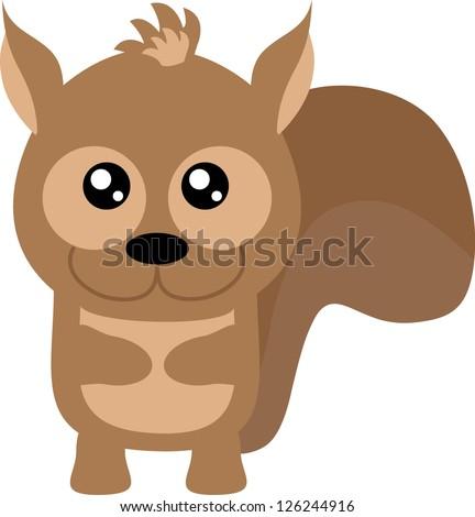 Cute baby squirrel - stock vector