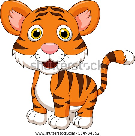 Cute baby tiger cartoon