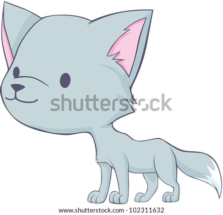 Cute Arctic Fox Cartoon Stock Vector 102926786 Shutterstock