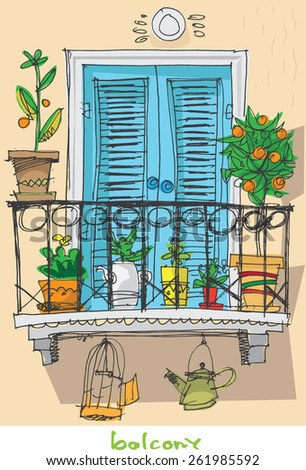 Iralu 39 s portfolio on shutterstock for Balcony clipart