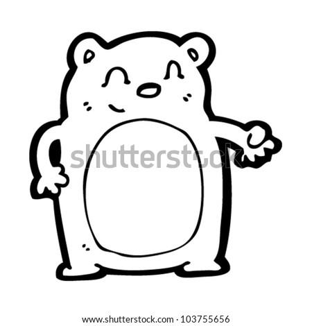 cute bear cartoon - stock vector
