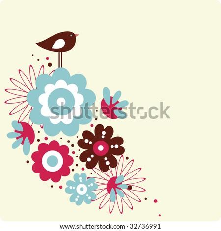 cute bird design - stock vector