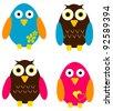 Cute Bird Set - stock vector