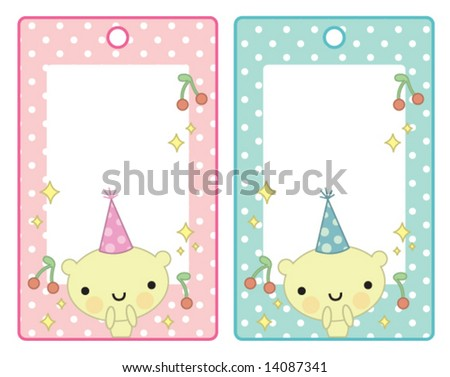 cute birthday labels