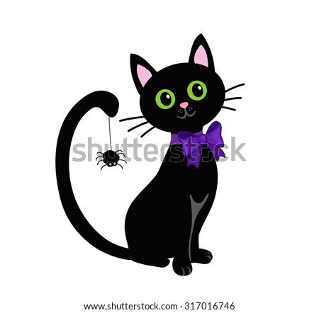 Black Cat Silhouette Halloween Stock Images, Royalty-Free Images ...