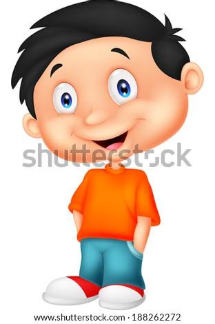 Cute boy standing  - stock vector