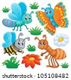 Cute bugs collection 2 - vector illustration. - stock vector