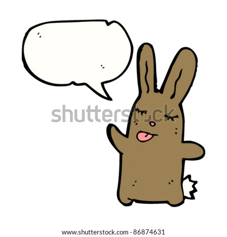 cute bunny sticking out tongue cartoon