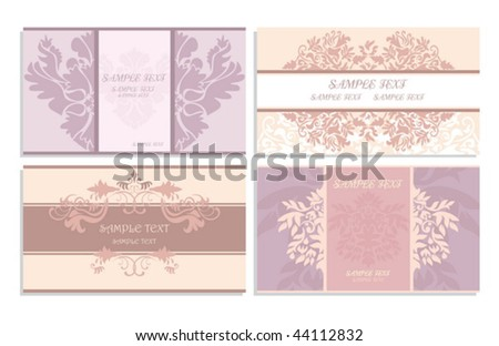 cute business cards - stock vector