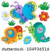 Cute butterflies collection 3 - vector illustration. - stock vector