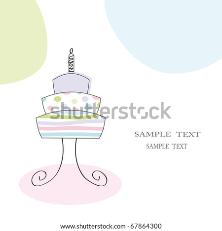 Cute card on festive occasion - stock vector