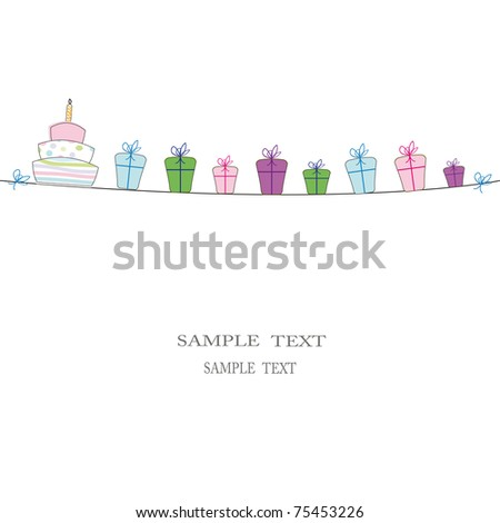 Cute card on festivity occasion - stock vector