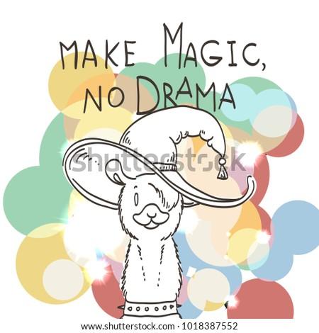 Motivational And Inspirational Quote. Doodling Illustration. Make Magic