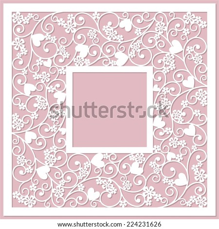 cute card with heard - stock vector