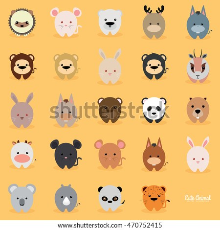 Cute cartoon animals stock vector 470752415 shutterstock cute cartoon animals voltagebd Gallery