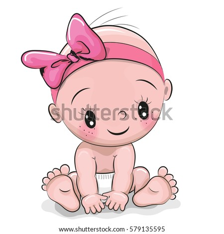 Cute cartoon baby girl isolated on stock vector 579135595 cute cartoon baby girl isolated on stock vector 579135595 shutterstock voltagebd Image collections