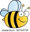 Cute Cartoon Bee.Vector illustration - stock vector
