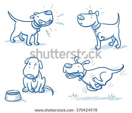 Dog Snarling Drawing