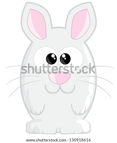 Cute cartoon easter bunny - stock vector