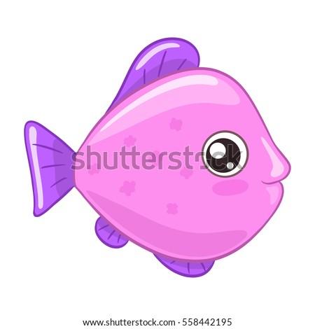 cute cartoon fish isolated on white stock vector royalty free rh shutterstock com cute cartoon fish drawings cute cartoon fish pictures
