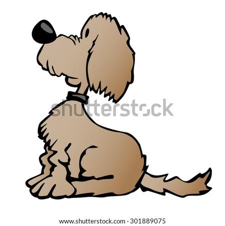 cute cartoon puppy dog sitting looking stock vector royalty free rh shutterstock com Happy Dog Clip Art Free Cat Clip Art Free