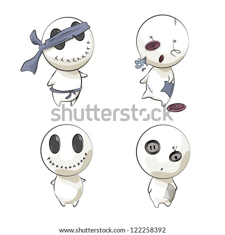 Cute characters. Vector Background. - stock vector