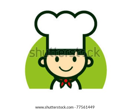 Cute Chef Character logo vector - stock vector