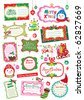 cute Christmas cards collection - stock vector