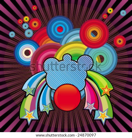 cute circle background - stock vector