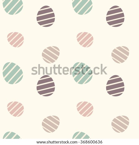 cute colorful easter eggs seamless vector pattern background illustration