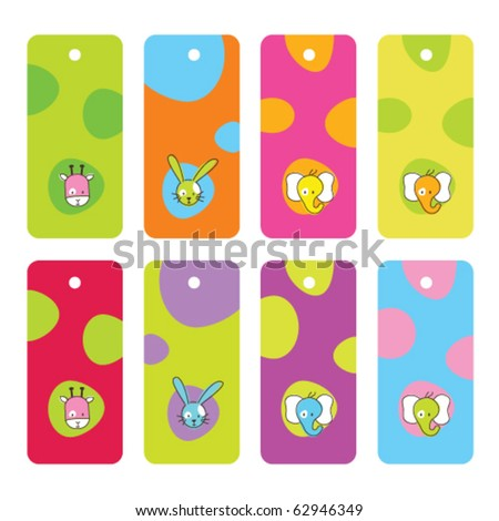 Cute colorful tags