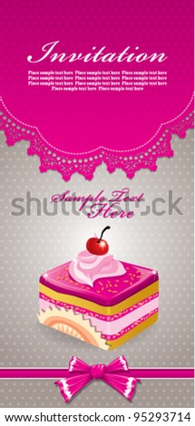 Cute cup cake design C - stock vector