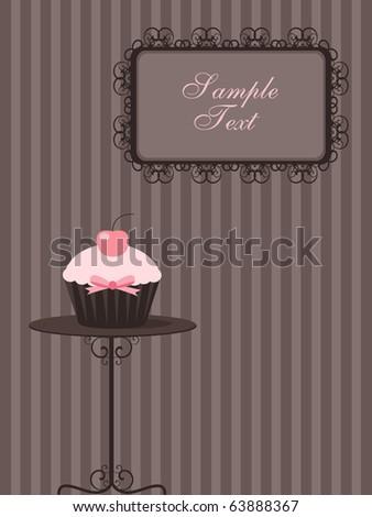 cute cupcake design - stock vector