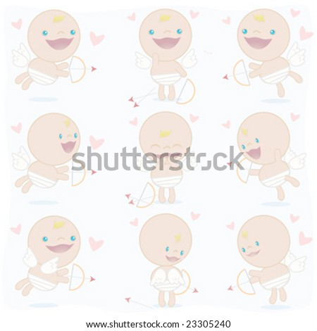 Cute cupid valentines day vectors