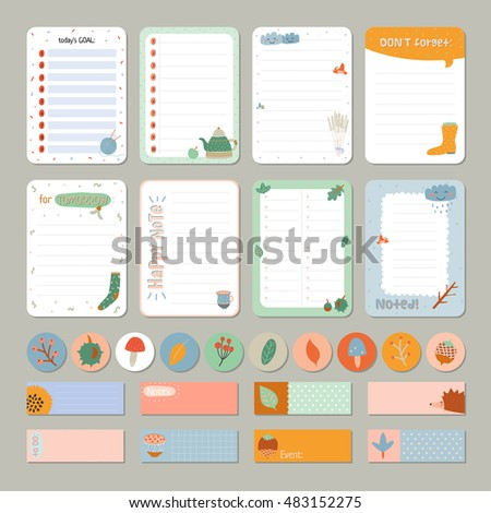 Cute daily calendar do list template stock vector 483152275 cute daily calendar and to do list template note paper and stickers set with vector pronofoot35fo Choice Image