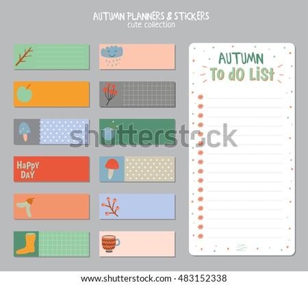 Cute Daily Calendar Do List Template Stock Vector 483152338