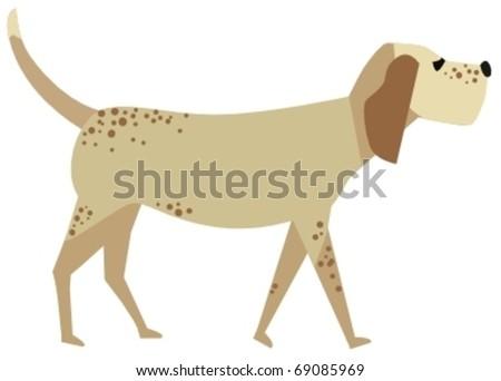 cute dog - stock vector