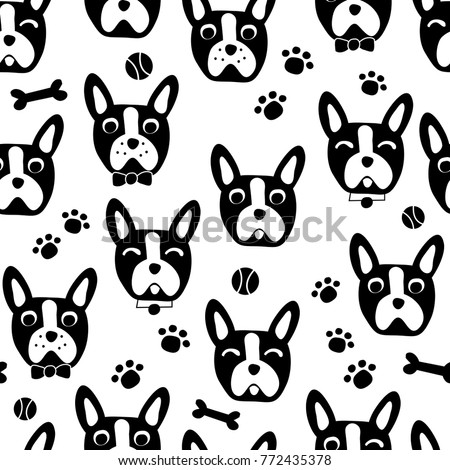Cool Bulldog Black Adorable Dog - stock-vector-cute-dog-face-cartoon-seamless-repeat-pattern-boston-terrier-french-bulldog-black-and-white-772435378  HD_964115  .jpg