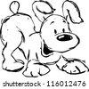 cute dog illustration - stock vector