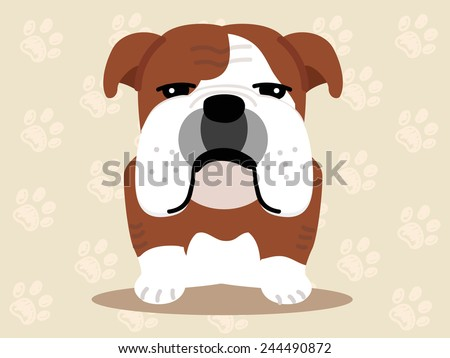 Cute dog sitting - vector set of icons and illustrations - stock vector